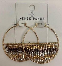 mandy beaded hoop earrings