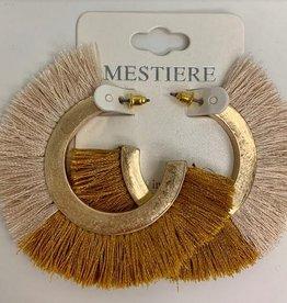 gold fanned tassel earrings