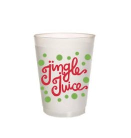 packed party jingle juice cup stack