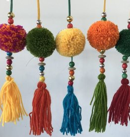 two's company multicolor pom pom ornament