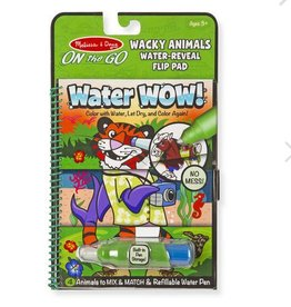 melissa and doug water wow! wacky animals water reveal flip pad