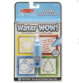 melissa and doug water wow! colors and shapes water reveal pad