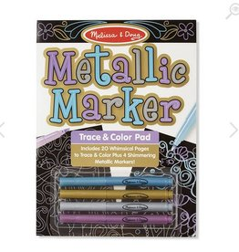 melissa and doug metallic marker trace & color pad