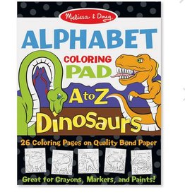 melissa and doug dinosaurs alphabet coloring pad A to Z