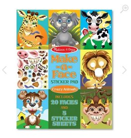 melissa and doug make a face sticker pad - crazy animals