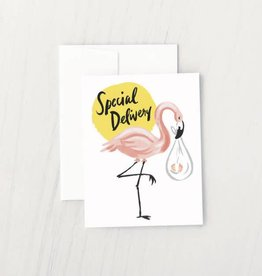 flamingo stork card
