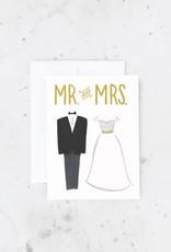 bride & groom card