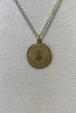 to my bridesmaid vintage coin necklace