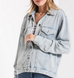 z supply the knit denim jacket