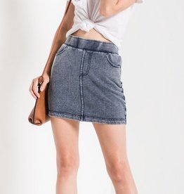 z supply the knit denim skirt FINAL SALE