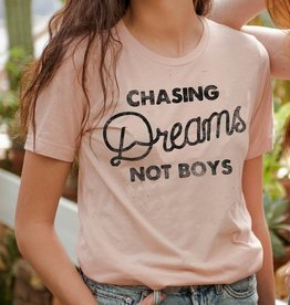 LivyLu chasing dreams not boys slub tee