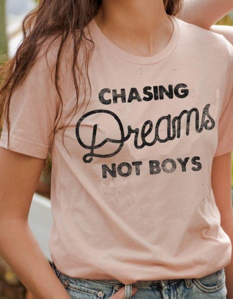 LivyLu chasing dreams not boys slub tee
