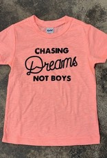 LivyLu chasing dreams not boys slub kids tee
