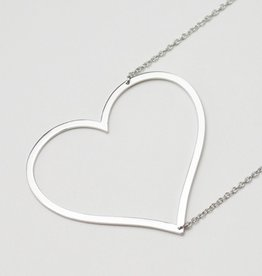 cool and interesting large sideways heart necklace