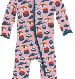 kickee pants lotus sushi muffin ruffle coverall with snaps