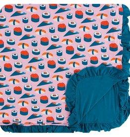 kickee pants lotus sushi ruffle toddler blanket