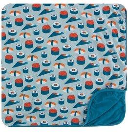 kickee pants jade sushi toddler blanket