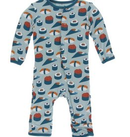 kickee pants jade sushi coverall with snaps
