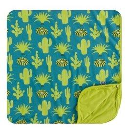 kickee pants seagrass cactus toddler blanket