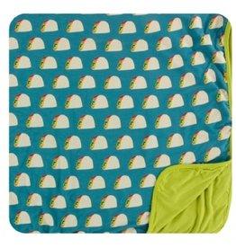 kickee pants seagrass tacos toddler blanket