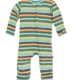 kickee pants cancun glass stripe coverall with snaps
