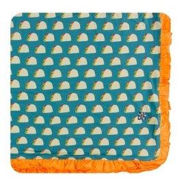 kickee pants seagrass tacos ruffle toddler blanket