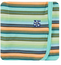 kickee pants cancun glass stripe swaddling blanket