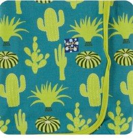 kickee pants seagrass cactus swaddling blanket