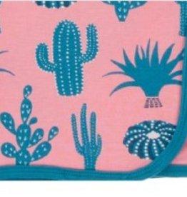 kickee pants strawberry cactus swaddling blanket