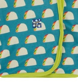 kickee pants seagrass tacos swaddling blanket