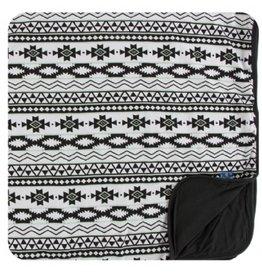 kickee pants natural mayan pattern toddler blanket