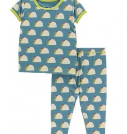 kickee pants seagrass tacos short sleeve pajama set