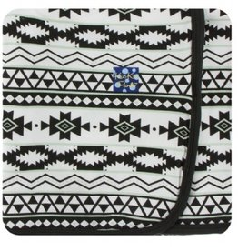 kickee pants natural mayan print swaddling blanket