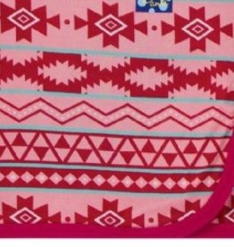 kickee pants strawberry mayan print swaddling blanket