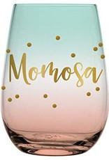 slant momosa 20oz stemless wine glass