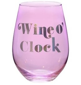 wine o clock 30oz stemless wine glass