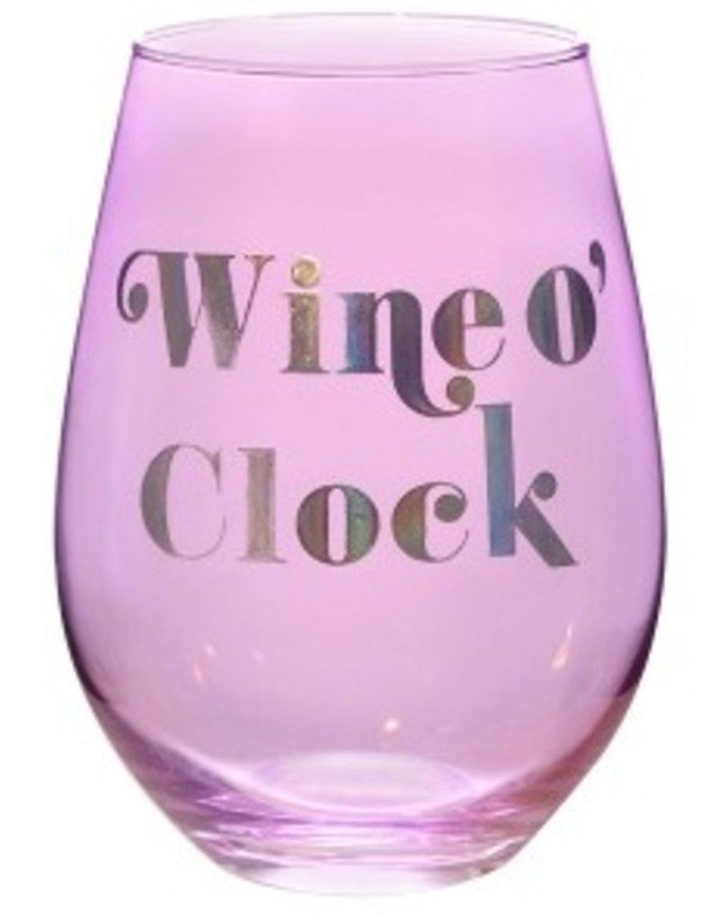wine o clock 30oz stemless wine glass FINAL SALE