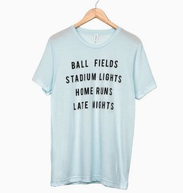 LivyLu ball fields tri-blend tee