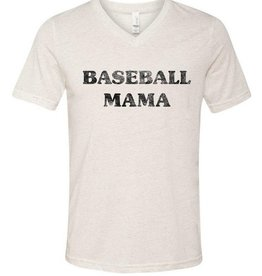 LivyLu baseball mama vneck tee