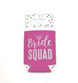 slant bride squad koozie