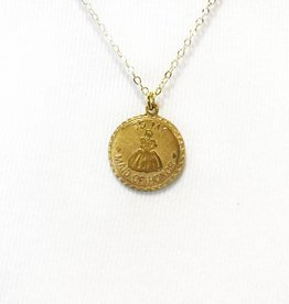 maid of honor vintage coin necklace