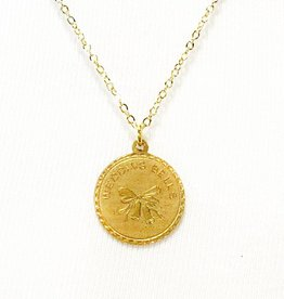 wedding bells coin necklace