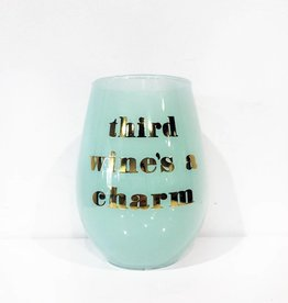 slant third wines a charm 20oz stemless wine glass