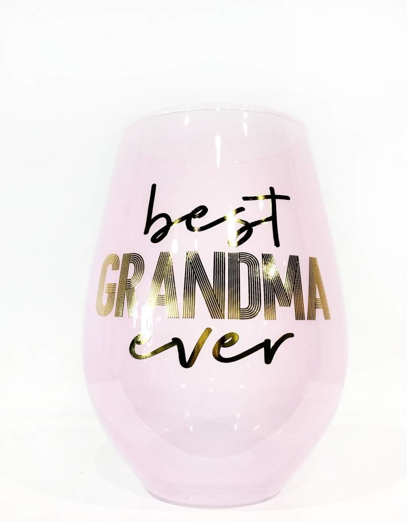 best grandma ever 30oz stemless wine glass FINAL SALE