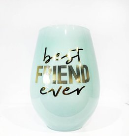 slant best friend ever 30oz stemless wine glass