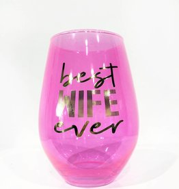 best wife ever 30oz stemless wine glass