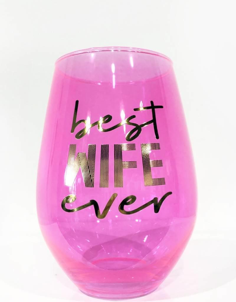 slant best wife ever 30oz stemless wine glass