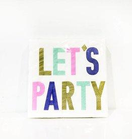 slant lets party bev napkin (20ct)