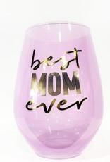 slant best mom ever 30oz stemless wine glass
