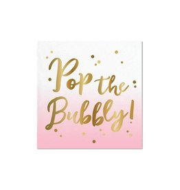 pop the bubbly foil bev nap (20ct)